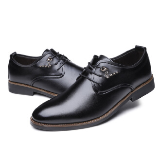 Daily business office student leather wear-resistant dress shoes