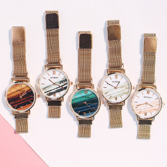 MOMA French niche watch female students cold wind Korean simple retro literary temperament waterproof Mori women's college wind