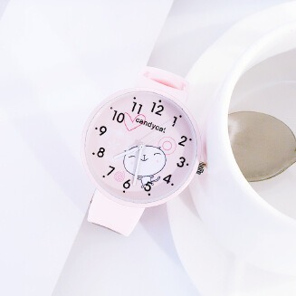 MOMA Girl Girl Heart Japanese Soft Girl Pink Cute Harajuku Style Watch Girl Middle School Korean Simple Candy Color