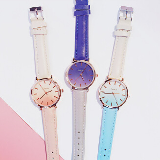 MOMA Candy cat ins watch female student Korean simple trend fashion casual atmosphere wild belt quartz female watch