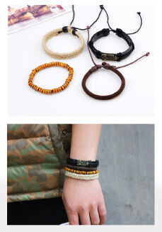 Woven bracelet woven leather bracelet owl national craft manufacturers