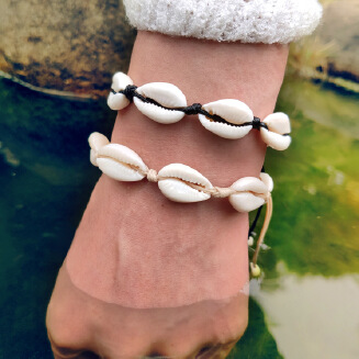 17KM Bohemian Trendy Natural Seashell Handmade Bracelet For Women Shell Bracelets Beaded Strand Bracelet Charm Jewelry Gift Whlesale