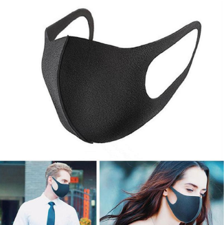 2Pcs Nano-polyurethane Black Mouth Mask Anti Dust Mask Activated Carbon Windproof Mouth-muffle Bacteria Proof Flu Face Masks