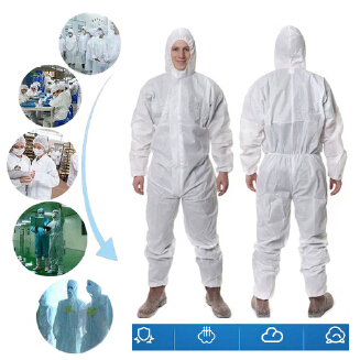 Coverall Disposable Anti-epidemic Antibacterial Isolation Suit for Staff Protective Clothing Dust-proof Antistatic