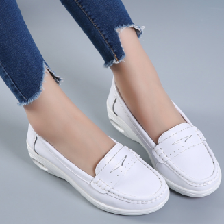 Women's flat Loafer Air Cushion Low Top Nurse Shoes