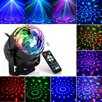 MJlife Led Disco Light Stage Lights DJ Ball Lumiere Sound Activated Laser Projector Lamp Light Music Party