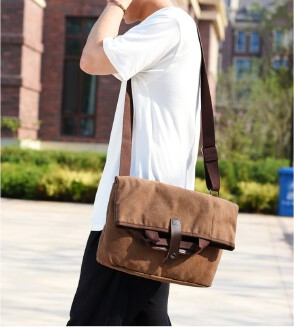 Men's canvas diagonal bag anti-theft shoulder bag casual bag