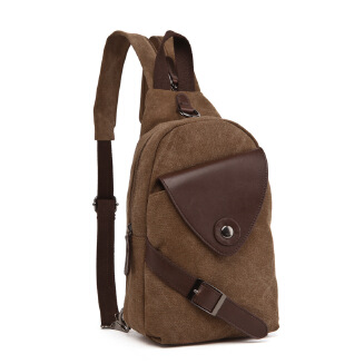 Casual canvas bag backpack chest bag travel bag