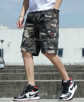 Men's summer loose five-point pants casual tooling shorts