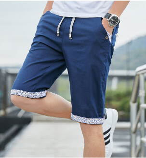 Men's summer casual shorts loose thin five-point pants