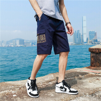 Men's summer thin beach five-point pants loose casual tooling shorts