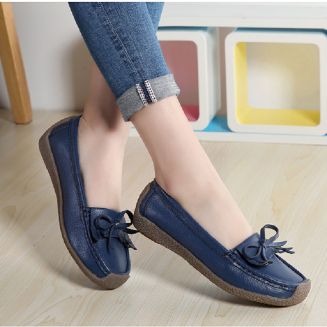 Women's casual shoes Oxford Soft bottom light Loafers