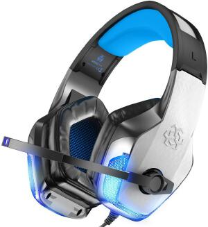 Factory Outlet Hunterspider V-4 Game Headset Headset Glowing Subwoofer Music Headset JX0721