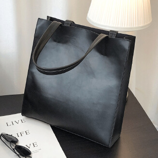 Men's casual leather handbag vertical picture file briefcase