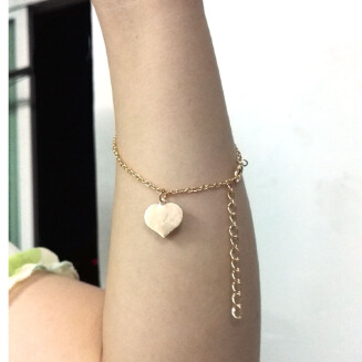 Foreign trade hot-selling European and American fashion foot ornaments simple sexy heart heart heart bracelet bracelet