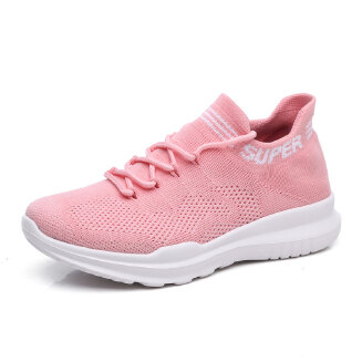Casual flying woven mesh sneakers sports women's shoes