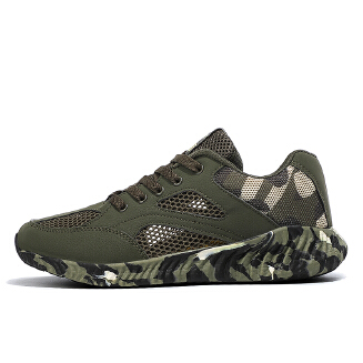 Summer hollow camouflage couple sports shoes casual men and women running shoes