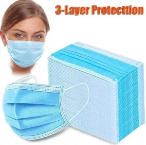 Disposable 3 Layer Surgical Face Mask – 50pcs - XARID
