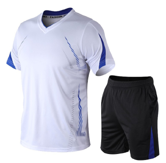 Men's short-sleeved sports suit quick-drying thin T-shirt shorts two-piece fitness running clothes