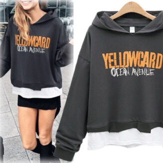 sharechic 2020 latest European and American hooded letter long-sleeved thick sweater