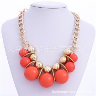 European and American pearl necklace fashion and all-around candy color sweater chain fashion and all-around Necklace factory spot direct sale