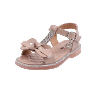 YYTX Girls sandals new fashion children bow princess shoes soft-soled baby shoes JX0419 YY-933
