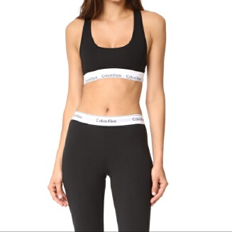 Modern Cotton Bralette Bra and Leggings yoga Set for Women(Black)