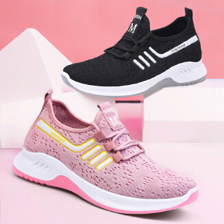 Flying woven casual mesh shoes wild soft bottom breathable women's shoes sports shoes