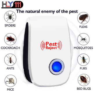 Dstore Ultrasonic Pest Reject Repeller Pest Control Electronic Anti Rodent Insect Repellent Mosquito Killer Blue light 1pcs
