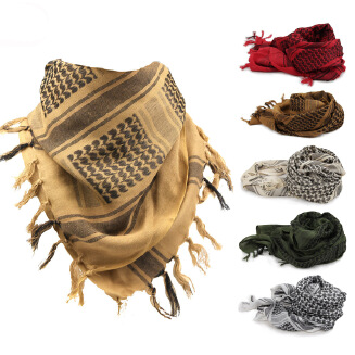 Thickened outdoor tactical scarf for military fans Arabic square scarf for warmth and cold protection neckband for men and women pure cotton headscarf