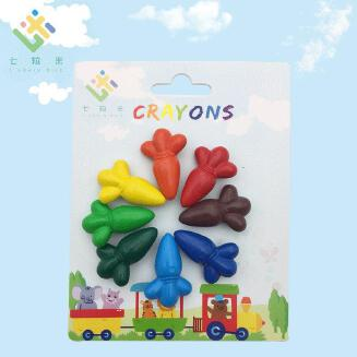 Children's brush stationery plastic crayon 6-color drawing stick