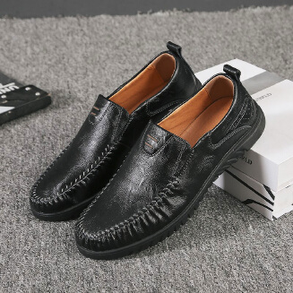 Sewing Pattern Slip on Doug Shoes for Men Leather Loafers Driving Shoes 38-47
