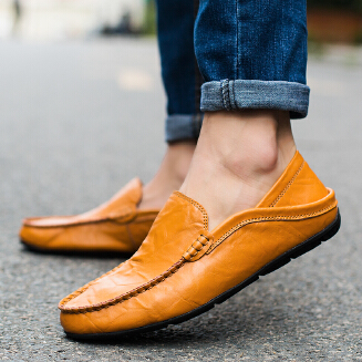 Sewing Pattern Slip on Doug Shoes for Men Leather Loafers Driving Shoes 38-47 whatwishes