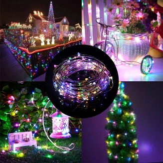 6 Colors 3m Copper Wire LED String 3M 30 LEDs Battery Operated LED String Lights With Milky White Battery Case 2xAA Battery