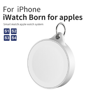 External Battery for Apple Watch 1 2 3 4 Wireless Charger Power Bank Portable Travel Outdoor QI Wireless Charging Bank
