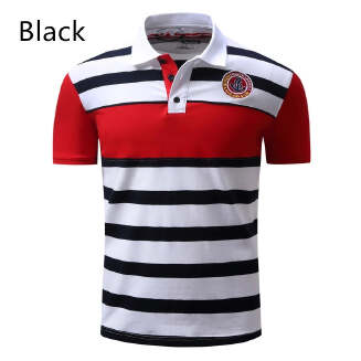 Dess90 new spring and summer casual large size men's POLO shirt lapel shirt A024