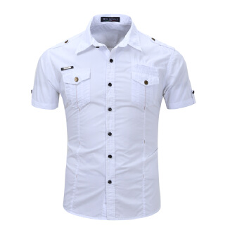Dess90 3XL Fashion Men's Short Sleeve Tooling Shirt A5588