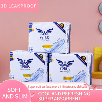 VENUS SANITARY NAPKIN:  FAMOUS - 10 Pads - All Day Use - Comfortable and Dry EID Women