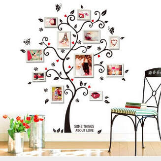 Happiness Tree Photo Wall Bedroom Living Room Decoration Sticker JX0705 AY6031