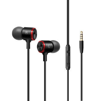 In-ear Type Wire Control Earphone Super Bass Sound Sports Headset for PC Computer Mobile Phone