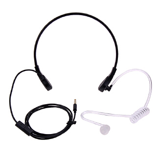 Throat Mic Headphones Covert Acoustic Tube Throat Earpiece Headset for iPhone HTC Android Universal Mobile Phone