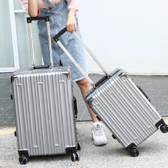 """20""""24inch ABS+PC suitcase universal wheel carry on luggage zipper/aluminium frame large capacity travel bags JX0422"""