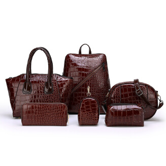 2019 new fashion wild child mother bag crocodile pattern double backpack bills shoulder diagonal package business lady BS0719 071-5100