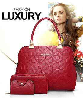 Three-piece fashion new boutique embossing real shot spot mother bag shoulder portable diagonal female bag BS0719 828