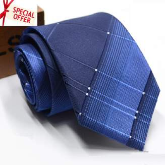 D61306 - BIG SALE OFFER Men's fashion  Formal Ties For Men Classic Polyester Party Necktie 8cm EID Ties PFLNKS PFGIFT GIFT01   Day04 Offer tie FD0818 TP0416