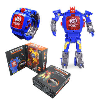 Cartoon robot electronic deformation watch King Kong children's projection watch student creative toy JX0601 C902