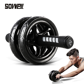 Muscle Exercise Equipment Home Fitness Equipment Double Wheel Abdominal Power Wheel Ab Roller Gym Roller Trainer Training JX0806 008
