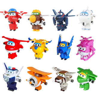 12 style Mini Super Wings Deformation Mini JET ABS Robot toy Action Figures Super Wing Transformation toys for children gift JX0601