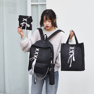 4-piece canvas casual backpack JX0722 tp0416 8915 BS0719