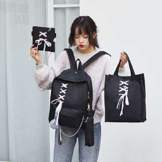 4-piece canvas casual backpack JX0722 8915 BS0719